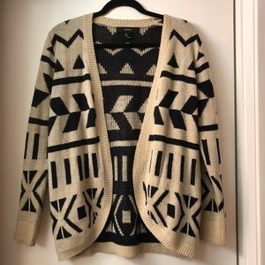 Forever 21 Geometric print baggy sweater
